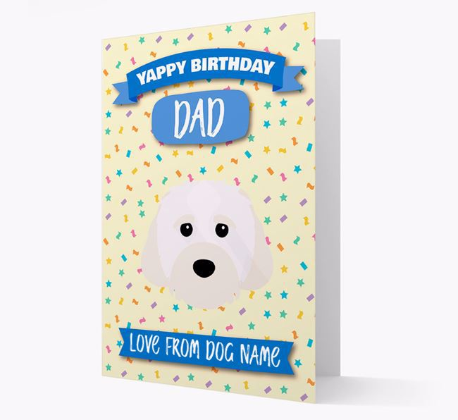Personalized Card 'Yappy Birthday Dad' with Cavachon Icon