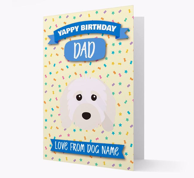 Personalized Card 'Yappy Birthday Dad' with Cavapoo Icon