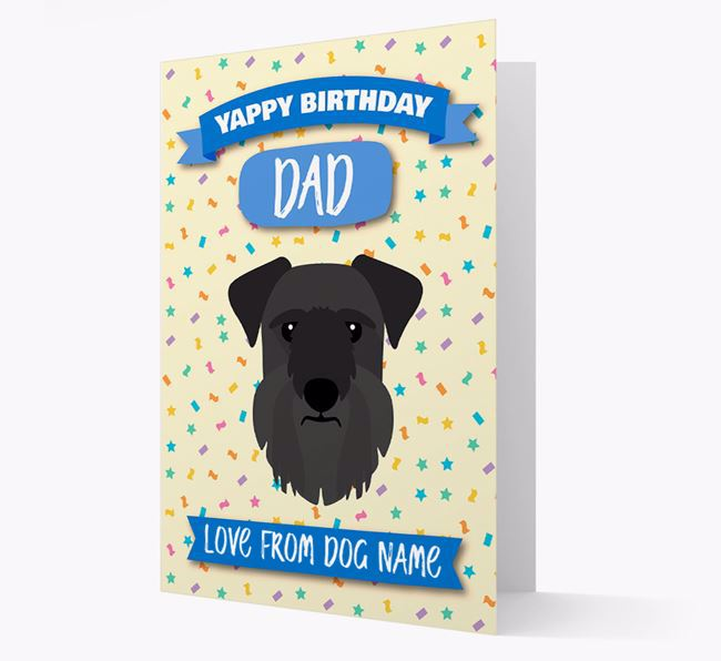 Personalised Card 'Yappy Birthday Dad' with Cesky Terrier Icon