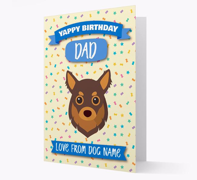 Personalized Card 'Yappy Birthday Dad' with Chihuahua Icon