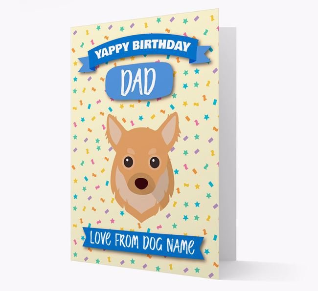 Personalised Card 'Yappy Birthday Dad' with Chihuahua Icon