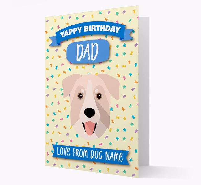 Personalized Card 'Yappy Birthday Dad' with Chinook Icon