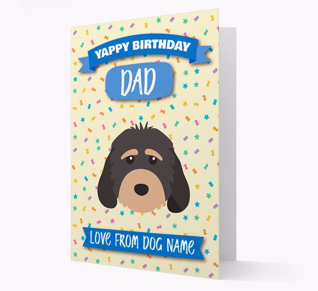 Personalised Card 'Yappy Birthday Dad' with Cockapoo Icon