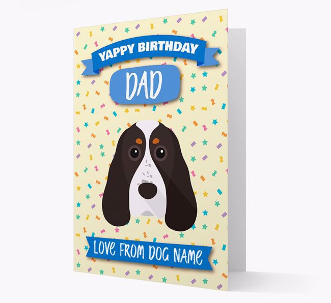 Personalized Card 'Yappy Birthday Dad' with Cocker Spaniel Icon