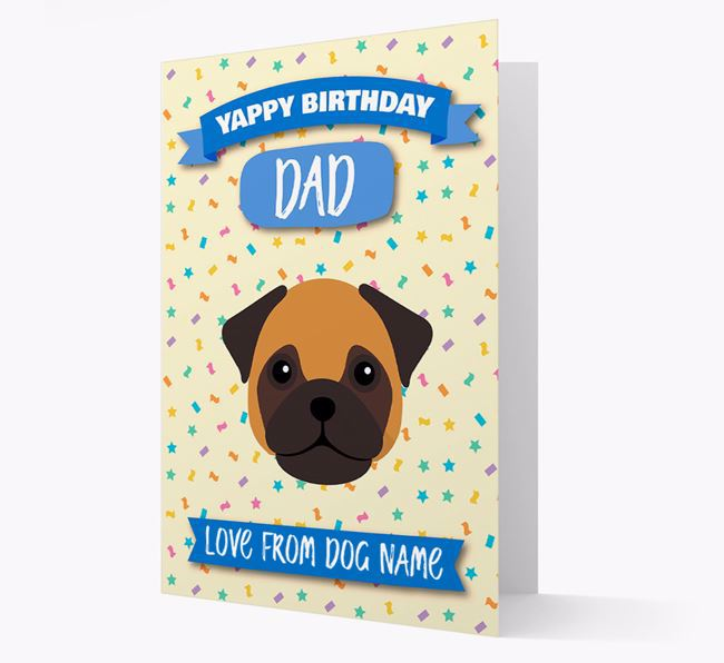 Personalized Card 'Yappy Birthday Dad' with Frug Icon