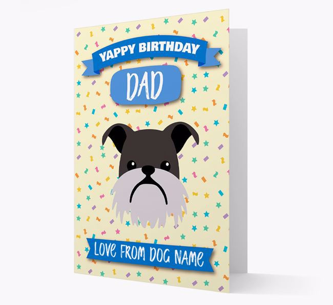 Personalized Card 'Yappy Birthday Dad' with Brussels Griffon Icon