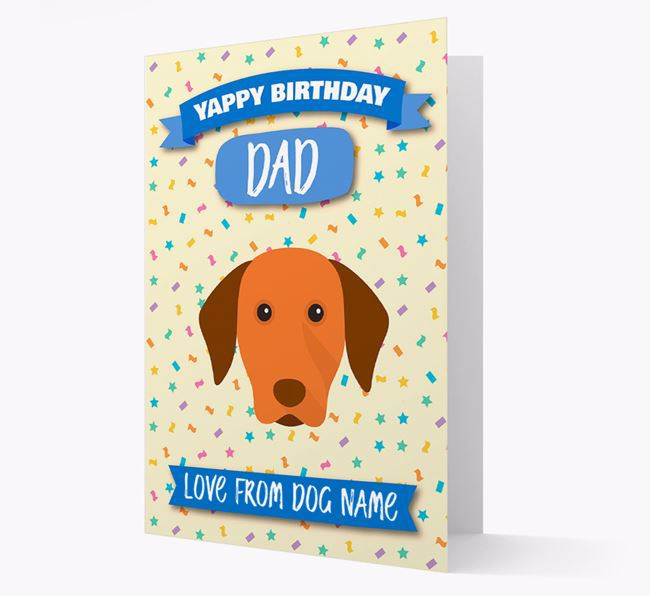 Personalised Card 'Yappy Birthday Dad' with Dog Icon
