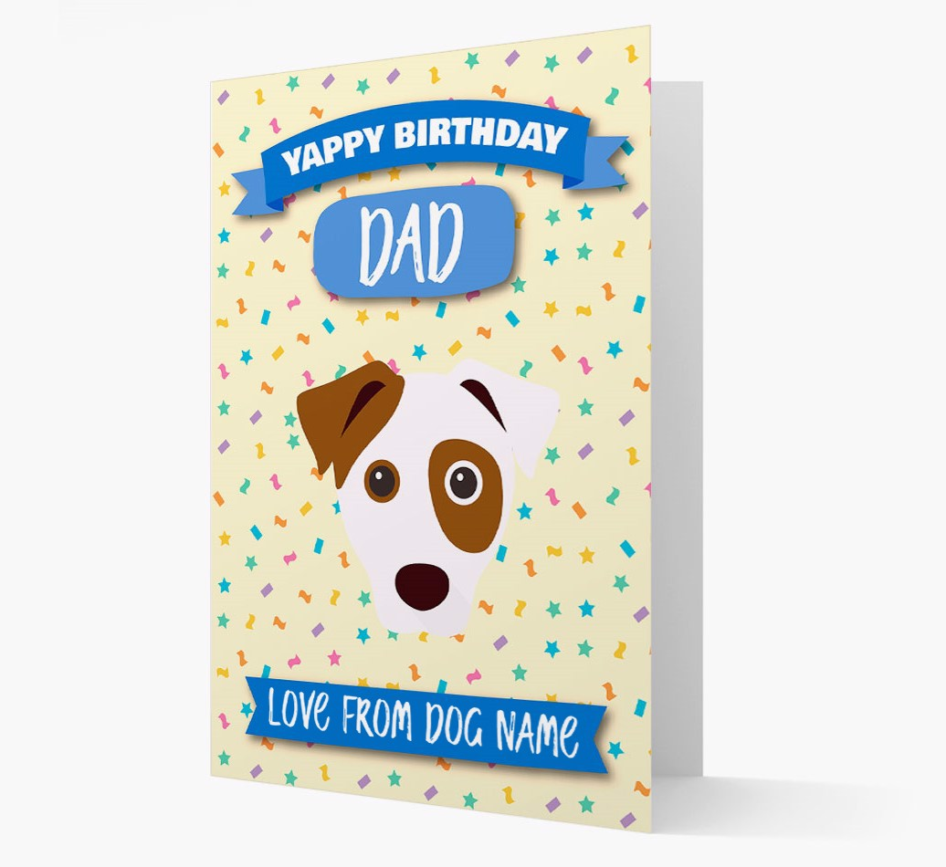 Personalized Card 'Happy Birthday Dad' with Dog Icon