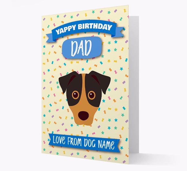 Personalized Card 'Yappy Birthday Dad' with Jack Russell Icon