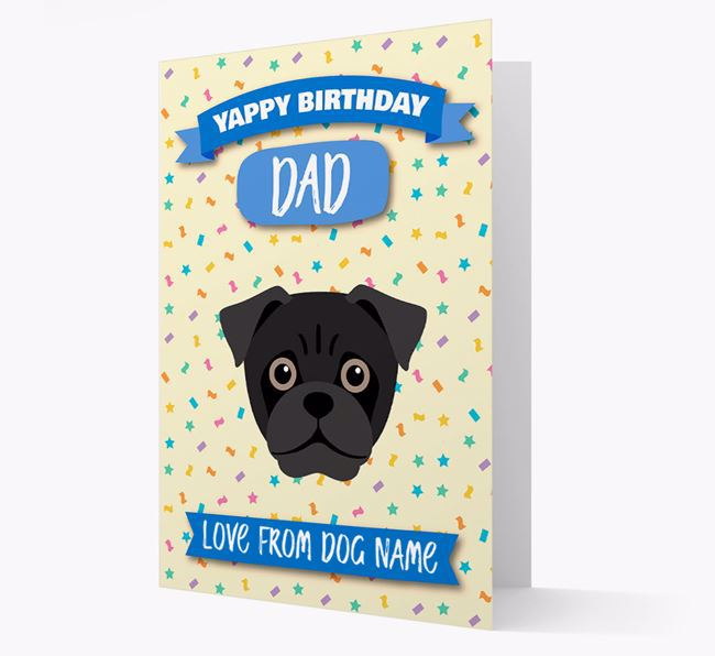 Personalized Card 'Yappy Birthday Dad' with Jug Icon