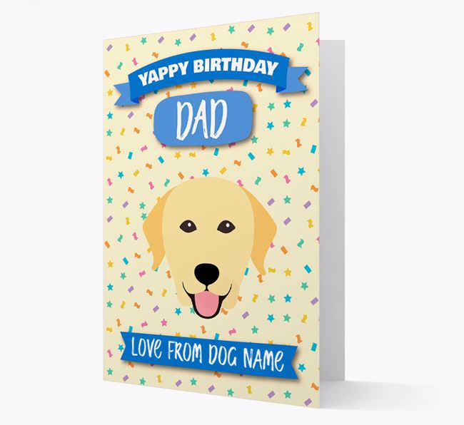 Personalized Card 'Yappy Birthday Dad' with Labrador Icon