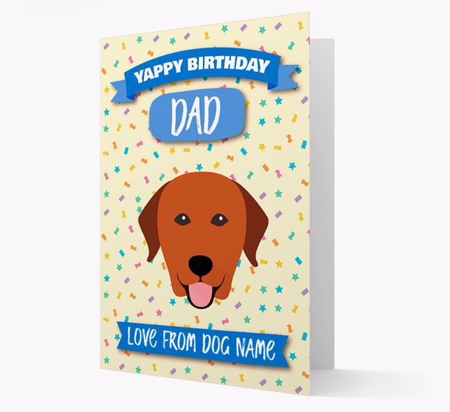 Personalised Card 'Yappy Birthday Dad' with Labrador Icon