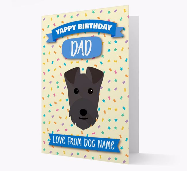 Personalized Card 'Yappy Birthday Dad' with Lakeland Icon