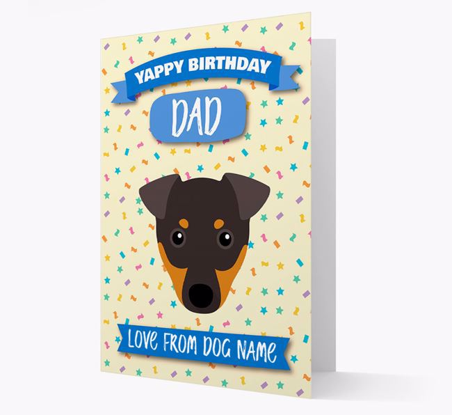 Personalized Card 'Yappy Birthday Dad' with Dog Icon