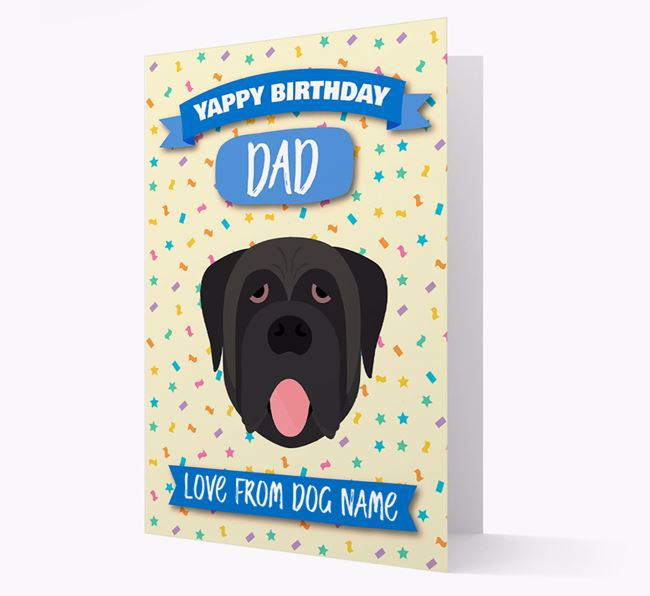 Personalized Card 'Yappy Birthday Dad' with Mastiff Icon