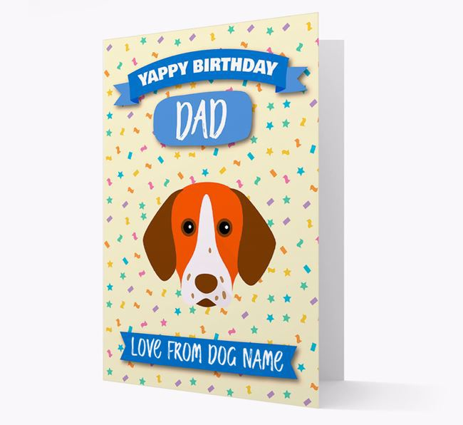 Personalized Card 'Yappy Birthday Dad' with Pointer Icon