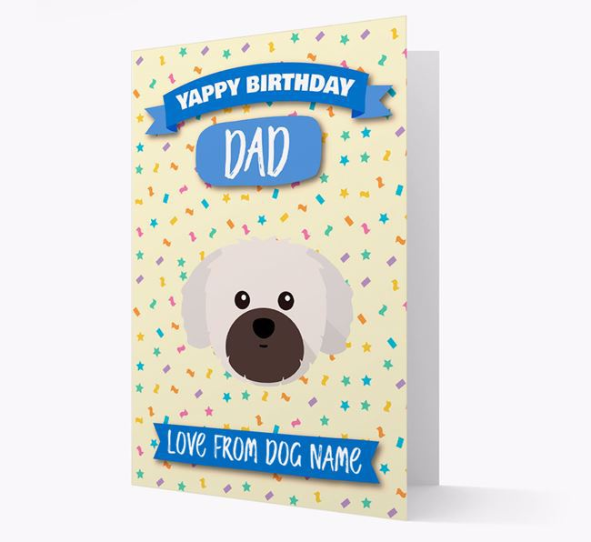 Personalised Card 'Yappy Birthday Dad' with Shih Tzu Icon