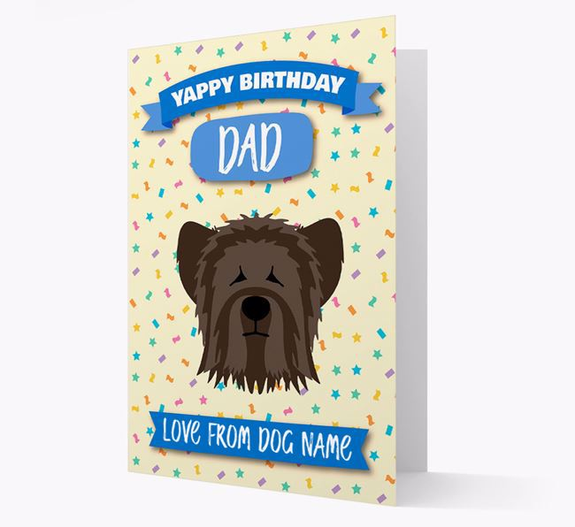 Personalized Card 'Yappy Birthday Dad' with Skye Terrier Icon