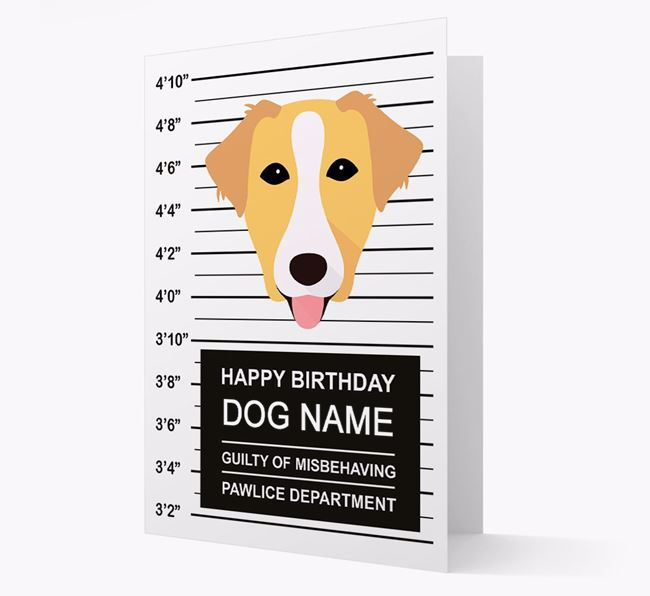 Personalized Card 'Guilty of Misbehaving' with Borador Icon