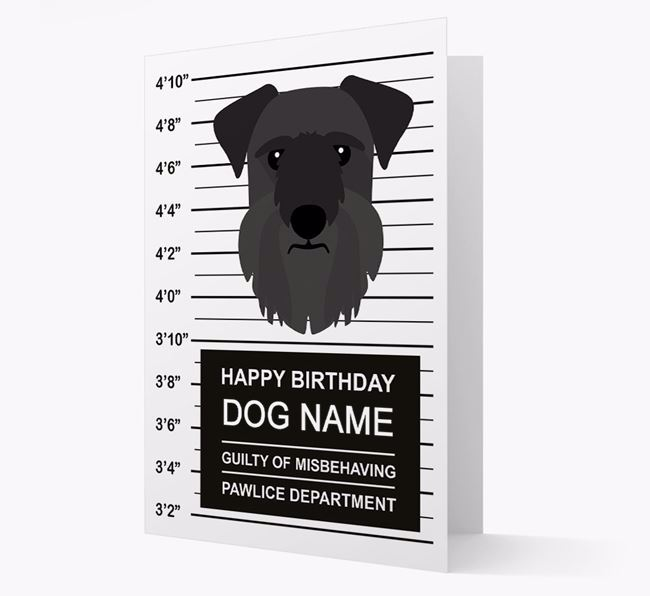 Personalised Card 'Guilty of Misbehaving' with Cesky Terrier Icon