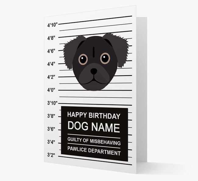 Personalised Card 'Guilty of Misbehaving' with Chug Icon