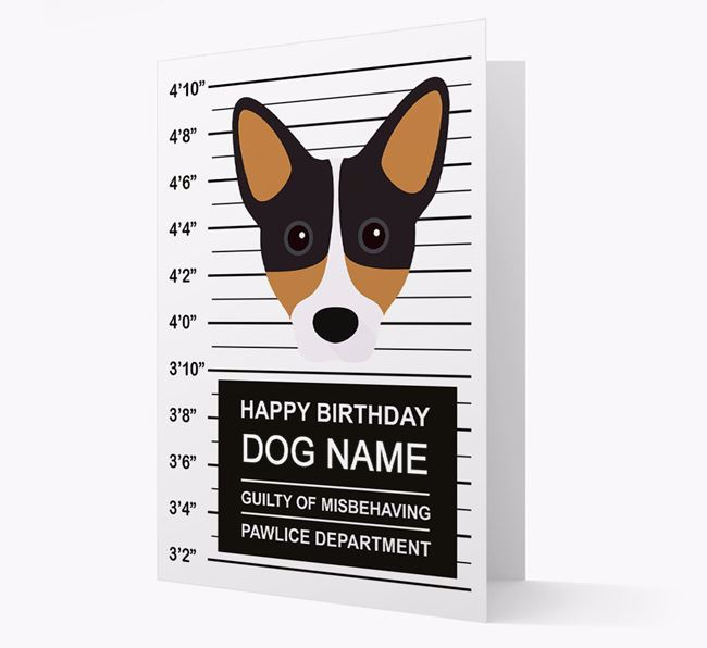 Personalised Card 'Guilty of Misbehaving' with Cojack Icon