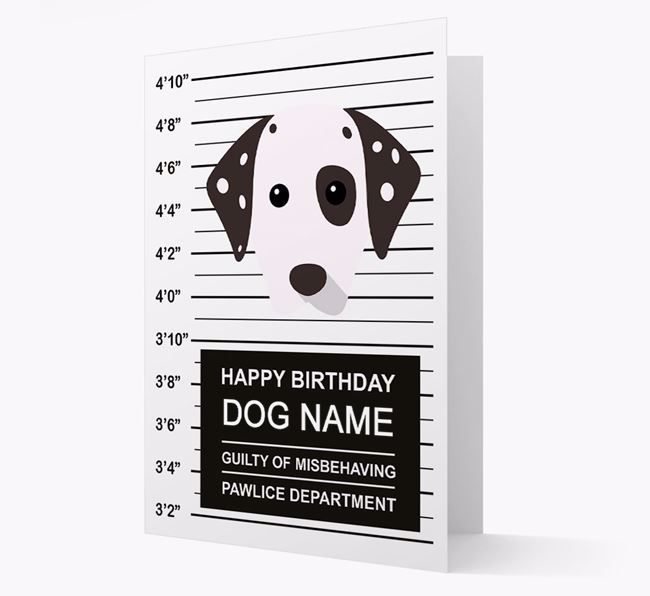 Personalized Card 'Guilty of Misbehaving' with Dog Icon