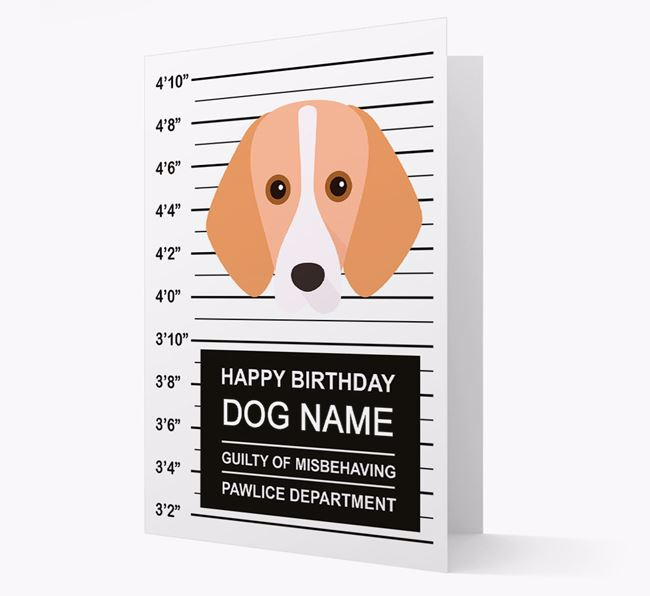Personalised Card 'Guilty of Misbehaving' with Foxhound Icon