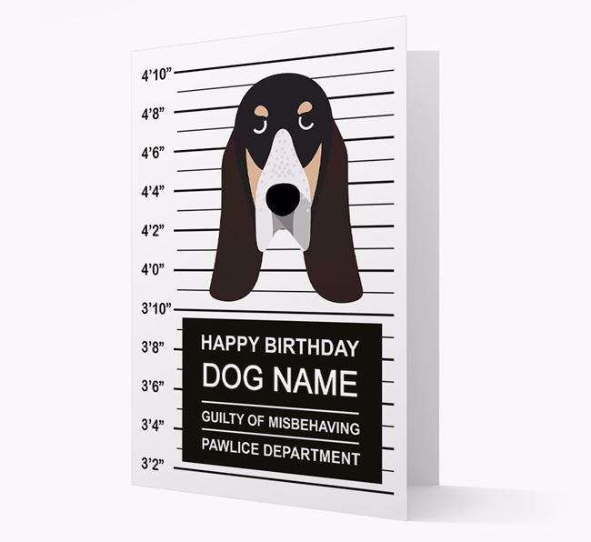 Personalised Card 'Guilty of Misbehaving' with Grand Bleu Icon