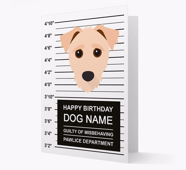 Personalised Card 'Guilty of Misbehaving' with Jack-a-Poo Icon