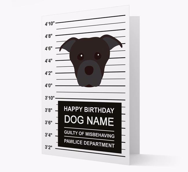 Personalised Card 'Guilty of Misbehaving' with Dog Icon