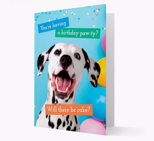 Birthday Card 'You're Having a Pawty' with Dog Icon
