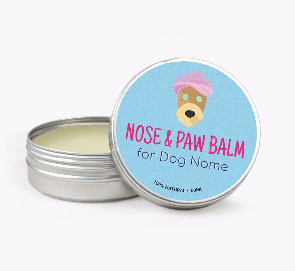 Personalised Nose & Paw Balm for your Airedale