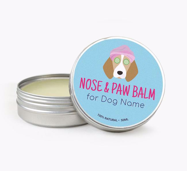 Personalised Nose & Paw Balm for your Beagle