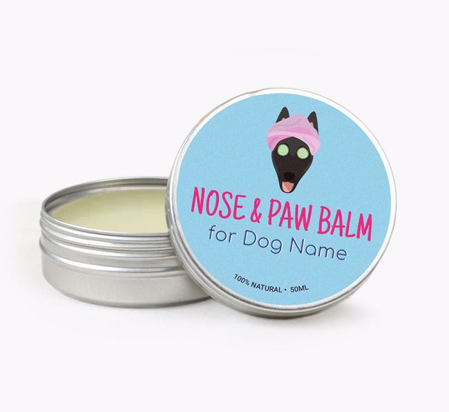 Personalised Nose & Paw Balm for your Belgian Shepherd