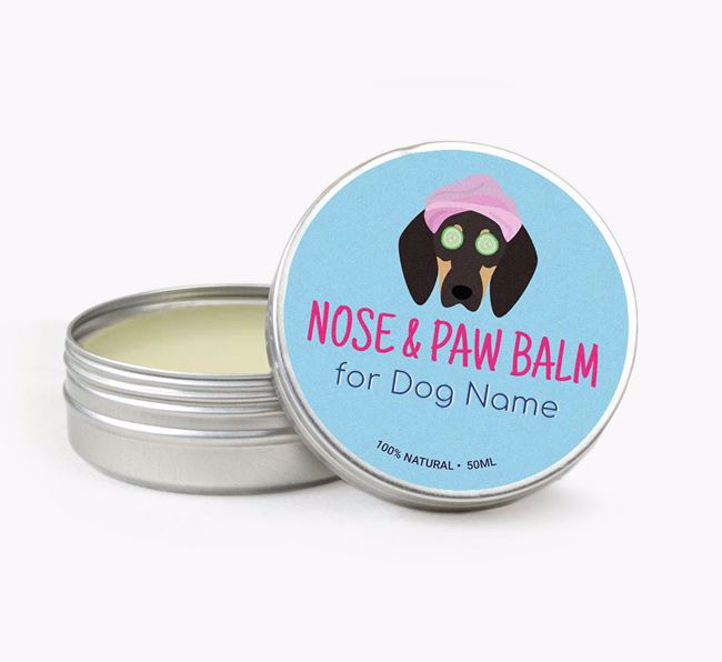 Personalised Nose & Paw Balm for your Coonhound