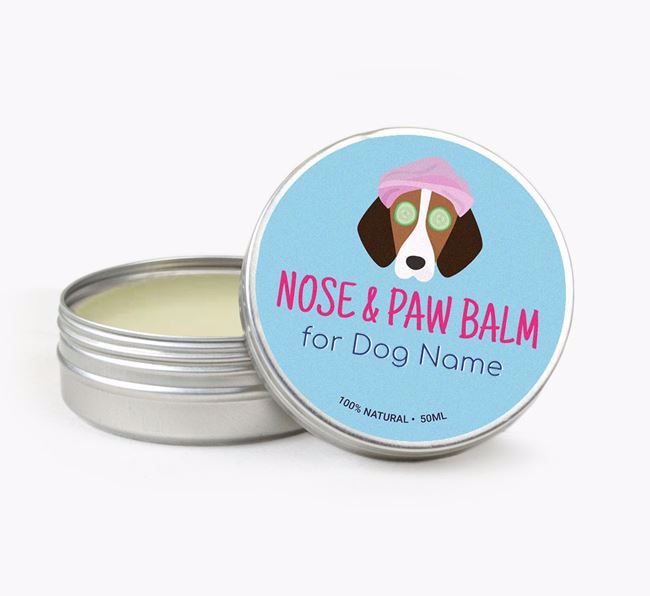 Personalised Nose & Paw Balm for your Foxhound
