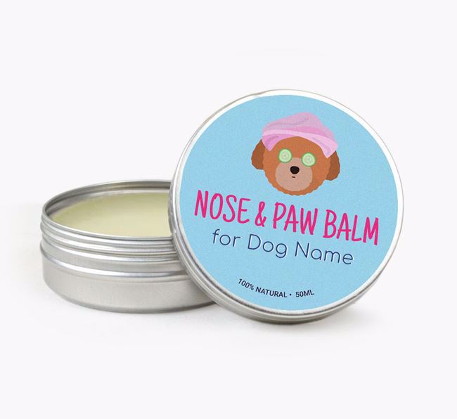 Personalised Nose & Paw Balm for your Toy Poodle