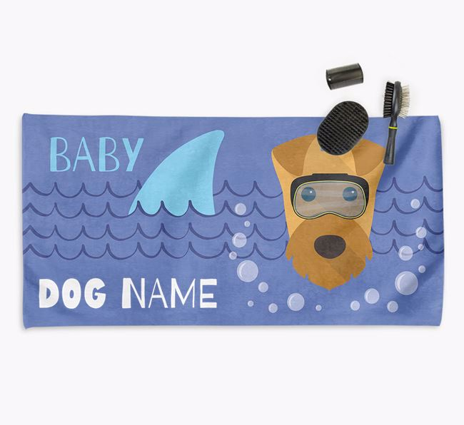 'Baby Shark' Personalized Towel for your Airedale