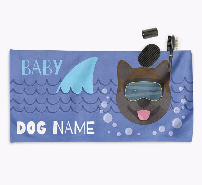 'Baby Shark' Personalized Towel for your Akita