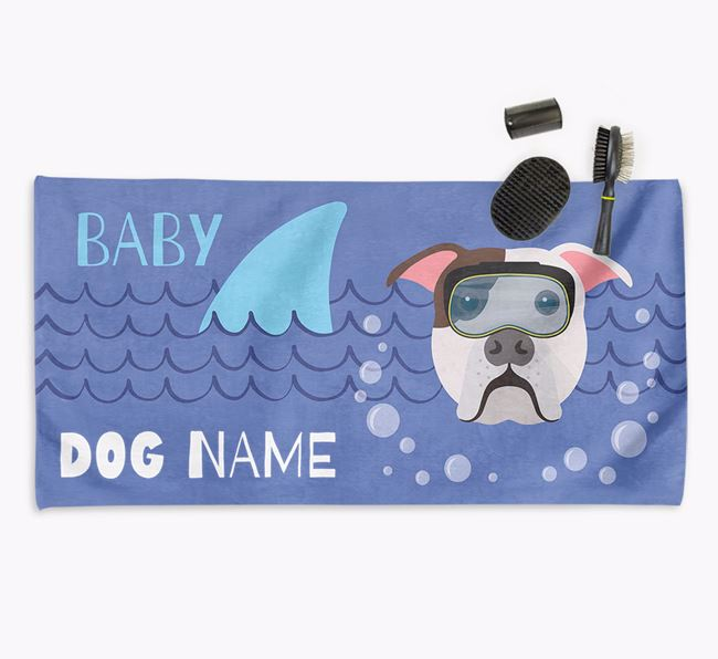 'Baby Shark' Personalized Towel for your American Bulldog