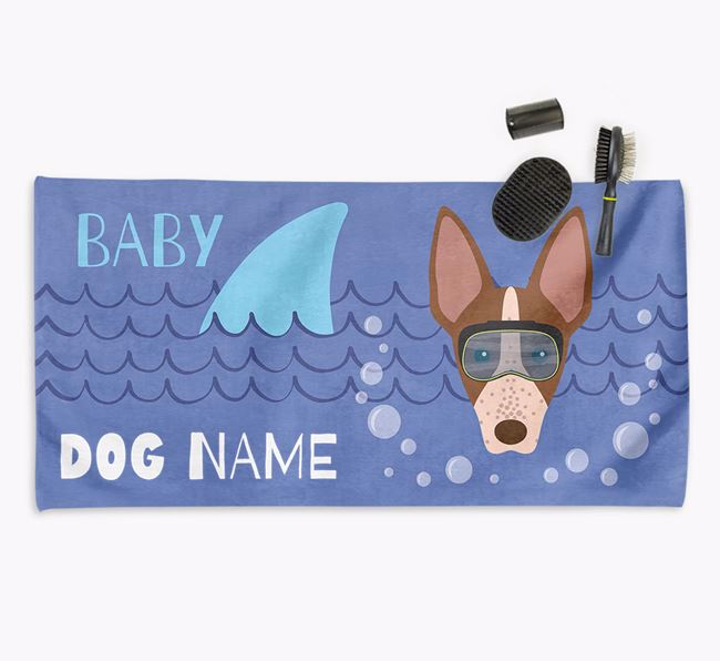 'Baby Shark' Personalized Towel for your American Hairless