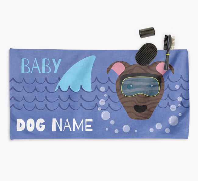 'Baby Shark' Personalized Towel for your Pit Bull Terrier