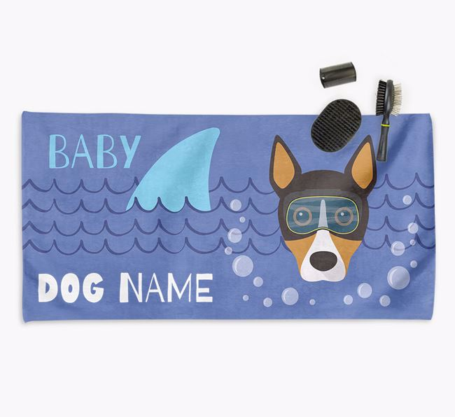 'Baby Shark' Personalized Towel for your Basenji