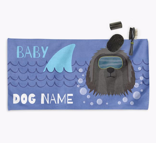 'Baby Shark' Personalized Towel for your Bearded Collie