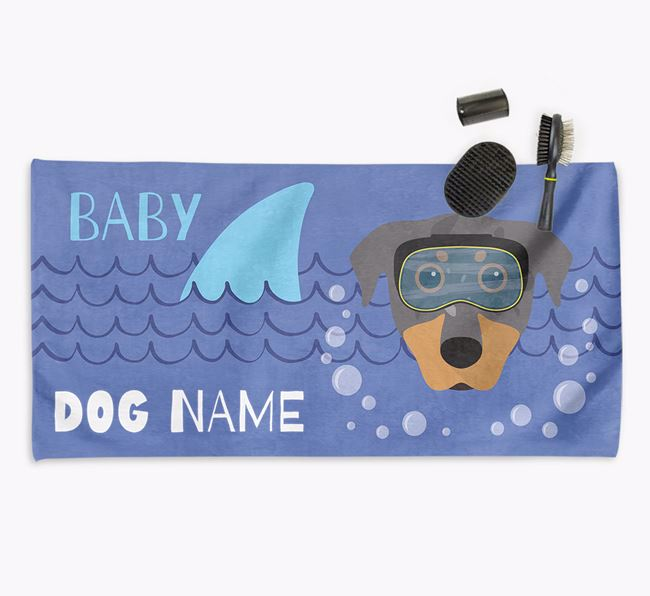 'Baby Shark' Personalized Towel for your Beauceron
