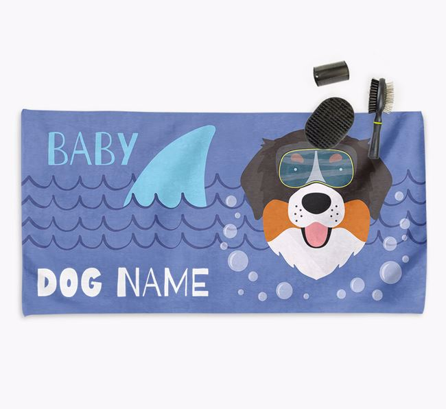 'Baby Shark' Personalized Towel for your Bernese