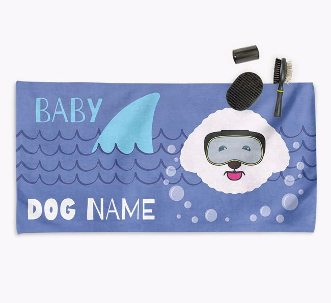 'Baby Shark' Personalized Towel for your Bichon Frise