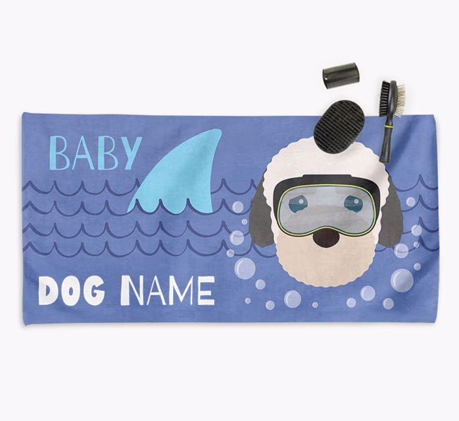 'Baby Shark' Personalized Towel for your Bich-poo
