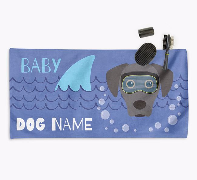 'Baby Shark' Personalized Towel for your Blue Lacy